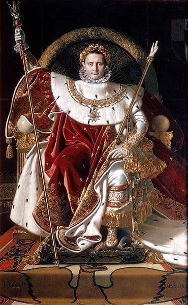 Napoleón en el trono imperial. Ingrés