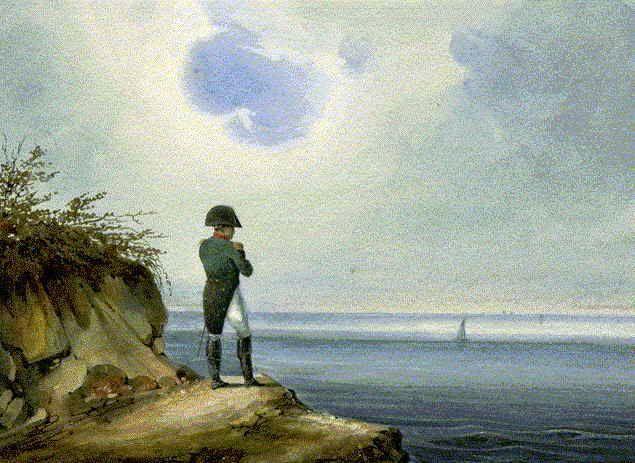 Napoleon en Santa Elena. Francois Joseph Sandmann