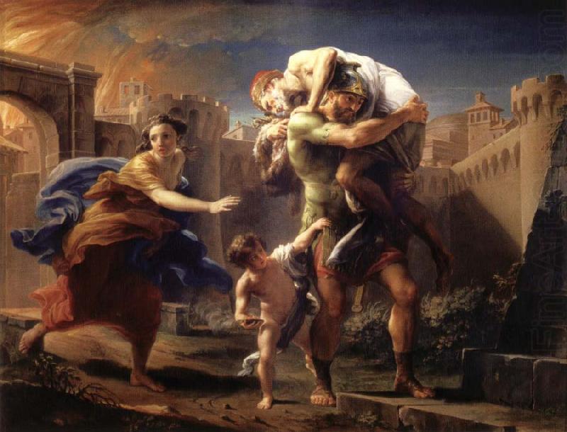 Eneas huyendo de Troya