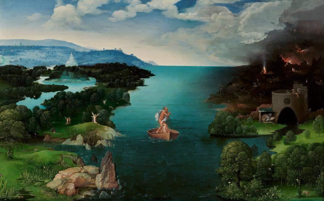 Caronte atravesando la laguna Estigia