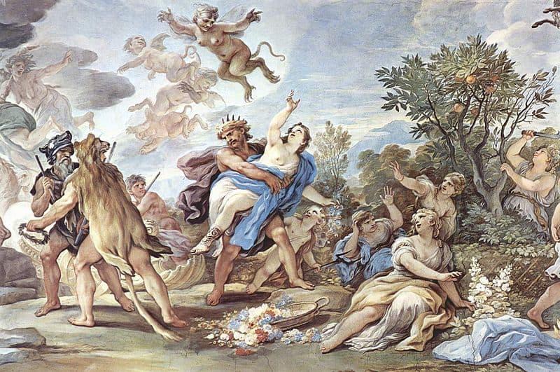 Rapto Perséfone. Luca Giordano