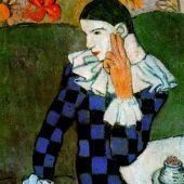 Arlequín acodado Picasso
