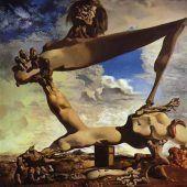 Construcción blanda con judías hervidas Dalí