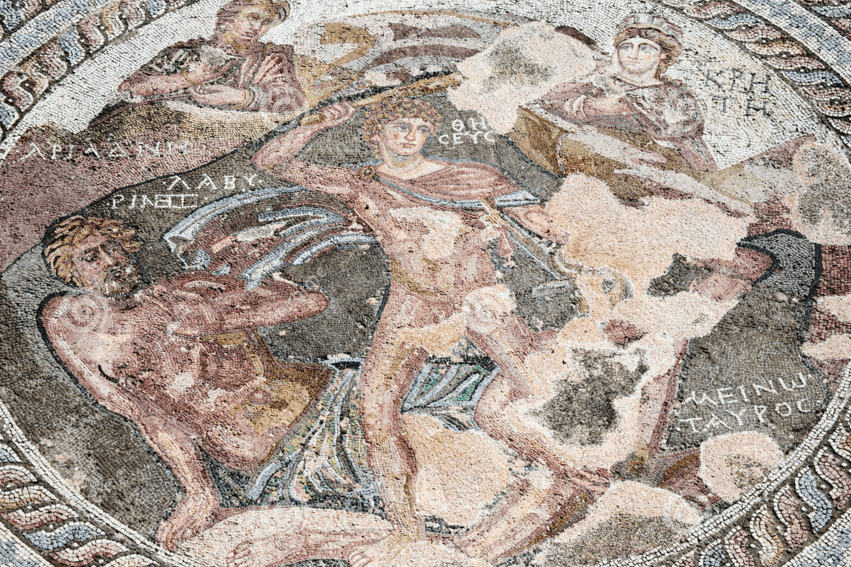 Mosaico Teseo. Villa Paphos