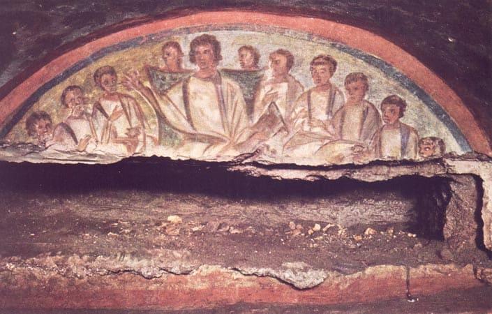 Cristo enseñando a sus apostoles