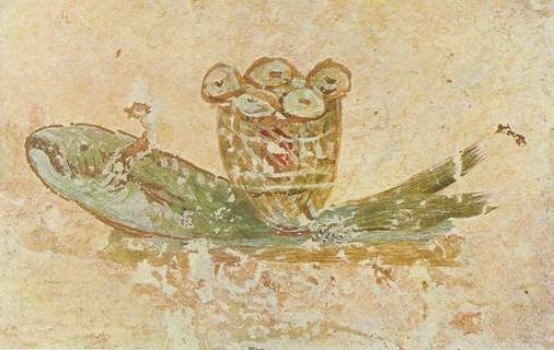 Panes y Peces. Catacumba de San Calixto