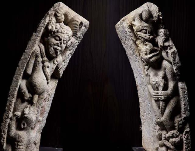 Dovelas con el castigo de la lujuria. Museo del Prado. Maestro Mateo