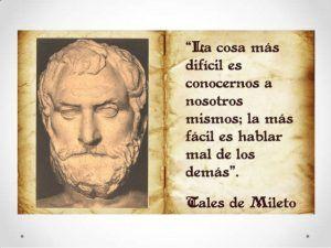 que enseño Tales de Mileto