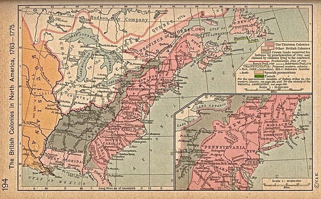 Colonias británicas 1763-76
