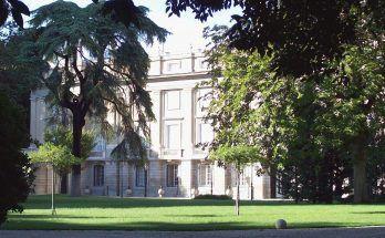 achada suroeste del Palacio de Liria de Madrid. Ventura Rodríguez 1762 y 1783. Foto Luis Garcia