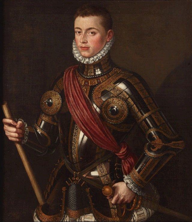 Retrato de Juan de Austria armado. Alonso Sánchez Coello. 1567.Monasterio de las Descalzas Reales de Madrid