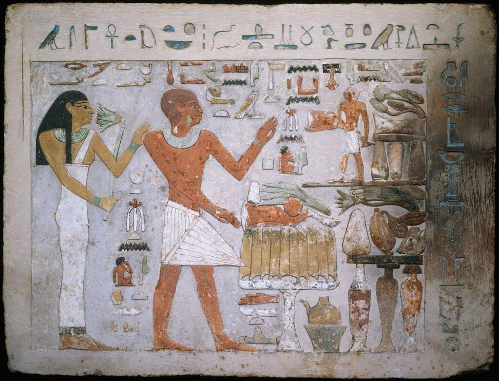 Fragmento de la tumba de Amenehat y su esposa Hemet