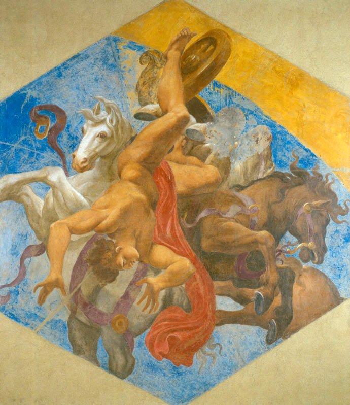 La caída de Faetón. Ludovico Carraci