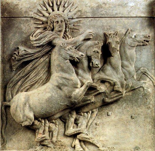 Helios. Templo de Atenea de Ilion